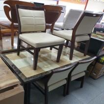 [PT99990226] 대리석식탁 (의자4개+유리 포함)